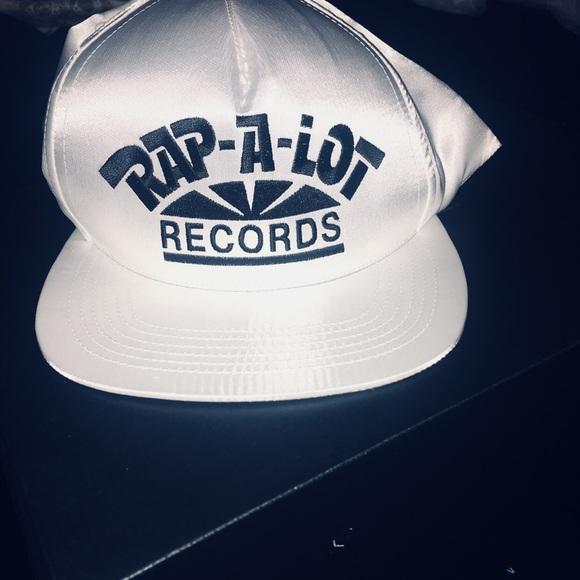 132bbf36 Supreme Accessories   Satin White Rap A Lot Records Hat   Poshmark